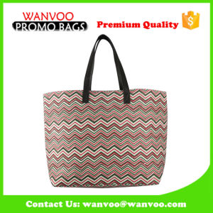 2016 Eco Large Cotton Canvas Lady Supermarket Shopping Promotional Bag with 210d Polyester Inside pictures & photos