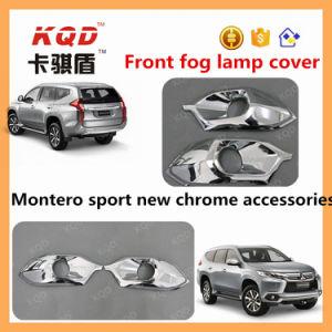 Chrome Fog Light Trims for Mitsubishi Pajero Accessories Chrome Fog Light Cover for 2016 Montero Sport Front Fog Lamp Cover