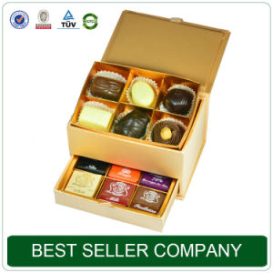 Best Seller Packaging Box Factory Glod Luxury Chocolate Gift Box pictures & photos