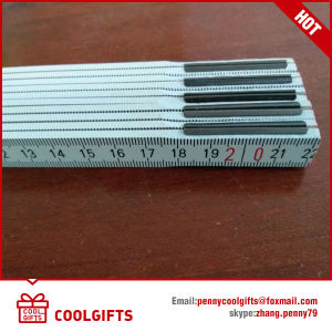 Promotional Gift 2m 10 Fold Germany Wooden Spring Folding Ruler pictures & photos