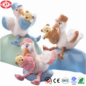 Plush White Blue Bird with Teddy Bear Plush Soft Toy pictures & photos