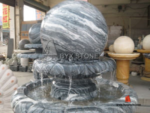 Natural Granite/Marble Ball Water Fountain for Outdoor Garden pictures & photos