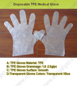 Hot Sell Disposable TPE Medical Glove (LY-PG-004) pictures & photos