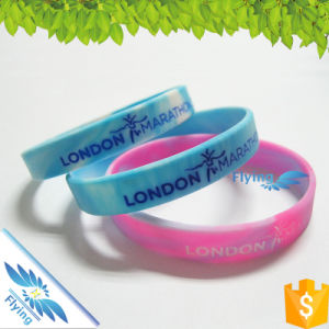 Glowing in Dark Slicone Jewelry Wristbands Main Rubber Types Bracelet Fashion Logo Bands