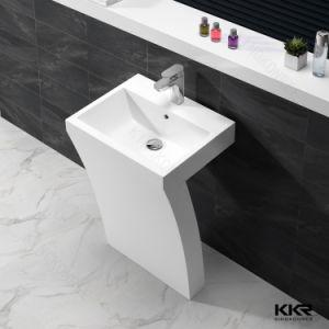 Modern Design Artificial Stone Corian Solid Surface Pedestal Basin pictures & photos