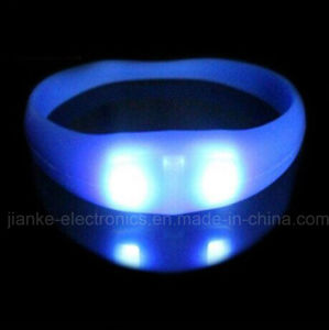 Party Flashing LED Sound Bracelet with Logo Printed (4010)