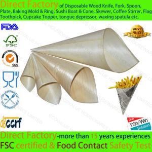 Pine Wood Chip Cone Disposable Cone pictures & photos