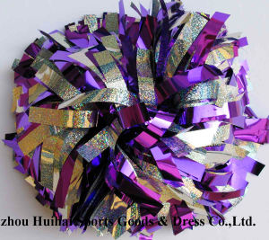 Cheerleading POM Poms: Holo Silver Mix Purple pictures & photos