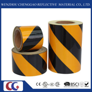 Black and Yellow Self Adhesive Reflective Film for Traffic Sign pictures & photos