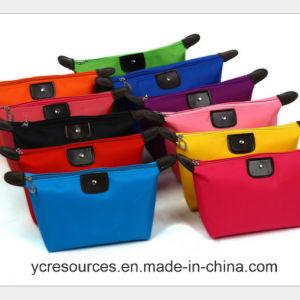 Nylon Fashion Girl Pure Color Travel Make up Bag (PG18001) pictures & photos