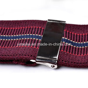 Top Quality Jacquard Stripes Leather Clip Suspenders for Men (BD1032) pictures & photos