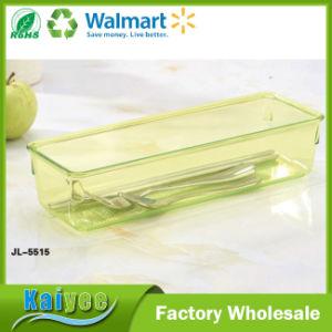 25*8.5*5.5cm Rectangular Transparent Kitchen Tableware Storage Organizer pictures & photos