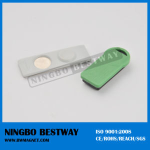 Plastic Magnetic Reusable Name Badge pictures & photos