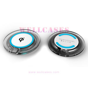 Qi Metal Wireless Charging Pad Anti-Slip Round Transmitter Charger for Cellphone pictures & photos