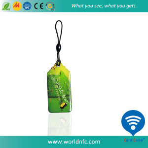 ISO14443A 13.56MHz NFC RFID Epoxy Card with Qrcode/ Laser Number pictures & photos