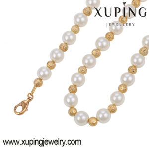 Fashion Elegant 18k Gold Color Jewelry Necklace with Bead Pearls-42930 pictures & photos