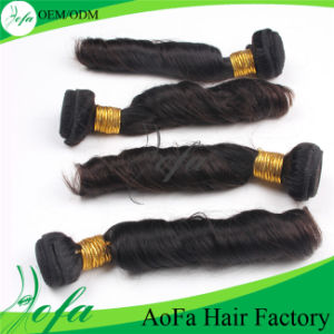 Aofa Spring Curly Human Hair Remy Virgin Hair Extension pictures & photos