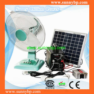 16′′ Stand 12V AC Rechargeable Fan with Solar Panel pictures & photos