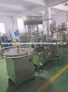 Automatic Bottle Cream Filling Machine with Bottle Turntable pictures & photos