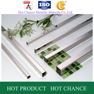 AISI 201.304.316 Stainless Steel Square Pipe 180g pictures & photos