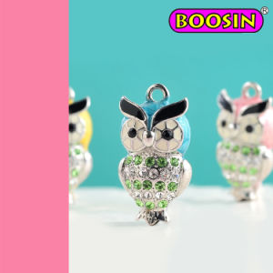 Ton Rhinestones Lovely Girls Jewelry Charm / Owl Charm #18346 pictures & photos
