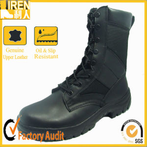 Genuine Leather Black Military Army Boots pictures & photos