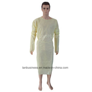 Disposable SMS Nonwoven Sterile Hospital Isolation Gown pictures & photos