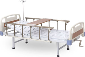 Coated Steel Hospita Bed with One Function pictures & photos