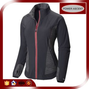 2016 Ladies Skinny Contrast Color Waterproof Winter Softshell Jacket pictures & photos
