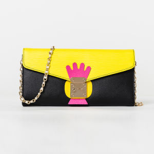 Lady Clutch Bag with Metal Chain Handle/Evening Bag (ZC0001-1) pictures & photos