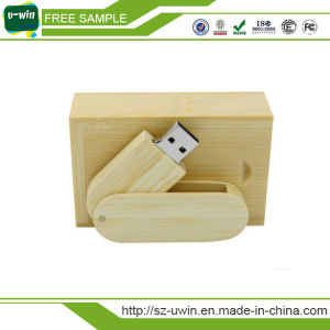 Wooden Rotation USB Flash Drive with Custom Logo pictures & photos