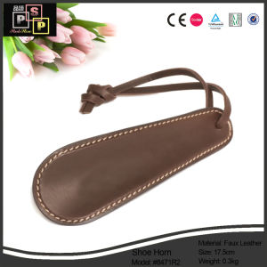 China Manufacturer 2016 Promotional Economic Custom Leather Shoe Horn (1502) pictures & photos