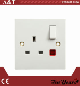 CE Approved 1gang 13A Switch Socket with Neon pictures & photos