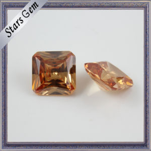 8X8mm Fashion Champagne Octagon Square CZ for Jewelry pictures & photos