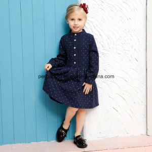 High Quality 100%Cotton Polka DOT Girl Dress Children Wear pictures & photos