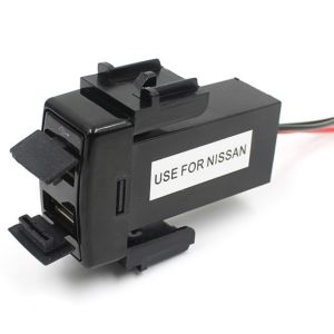 1.2A +2.1A Car Styling Original Position Dual USB Port Socket Charger for Nissan Qashqai Juke Tiisa X-Trail Almera etc pictures & photos