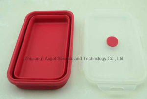 FDA Approved Silicone Food Box Foldable Food Storage Sfb10 (350ML) pictures & photos