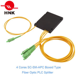 1*4 Boxed Type Fiber Optic PLC Splitter pictures & photos