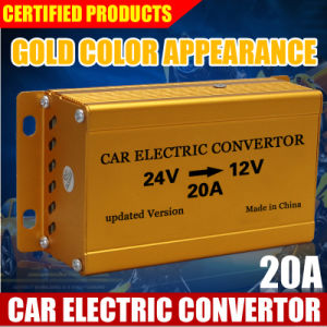 Golden, 20A, The Best Quality Car Converter DC 24V to DC 12V