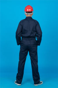 65% Polyester 35%Cotton Long Sleeve Safety Cheap Workwear Coverall (BLY1025) pictures & photos