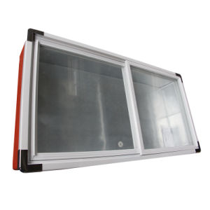 85kg Bevel Glass Door Seafood Freezer with LED Light pictures & photos