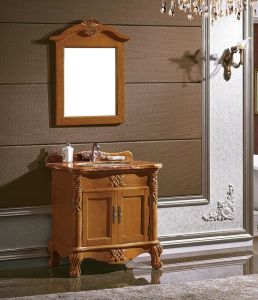 Classic Bathroom Cabinet Made of Solid Wood pictures & photos