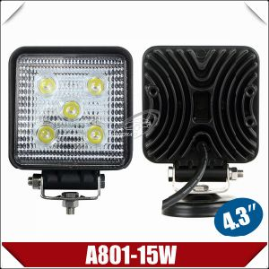 "4.3"" Square Epistar LED Work Light (A801-15W)"