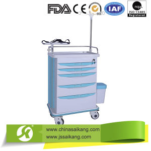 Hospital IV Treatment Emergency Trolley pictures & photos