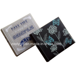 Customized Design Printing Linen Fabric Photo Album Embroidery Black PU Leather Photo Album pictures & photos