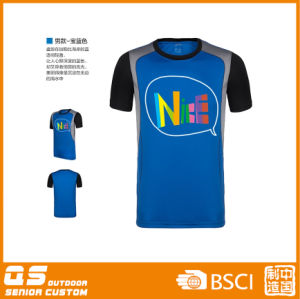 Men′s Fashion Print Panel T-Shirt pictures & photos