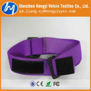 Customized Hook and Loop Purple Side by Side Cable Tie pictures & photos