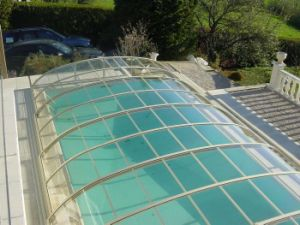Anti-Slip Polycarbonate Swimming Pool Cover pictures & photos