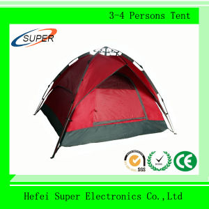 100% Polyester 4 Person Outdoor Rainproof Waterproof Camping Tent pictures & photos