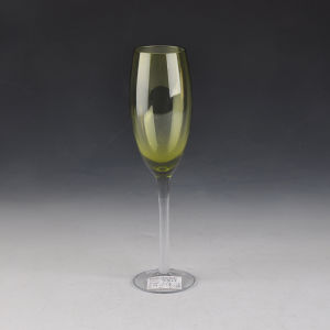 Hot Sale Colored Hand Blown Glass Champagne Flutes pictures & photos
